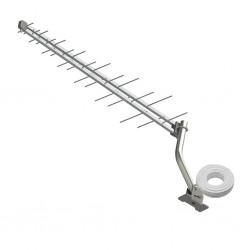 Kit Antena Digital Externa  -log28 -14dbi - Canales  14 Al 83 VHF