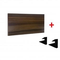 Repisa  +  Soporte  90cm × 25cm  MDP  NOGAL - KIT